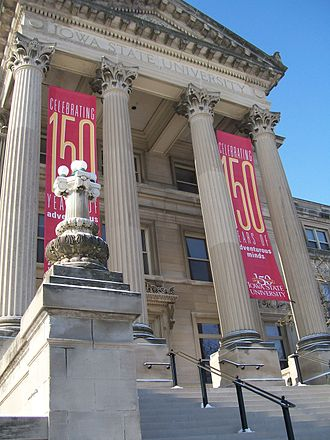 Iowa State University - Beardshear Hall celebrating Sesquicentennial in 2008