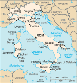 Italien . hit längtas det