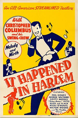Chris Columbus (musician) - Poster for the 1945 film It Happened in Harlem