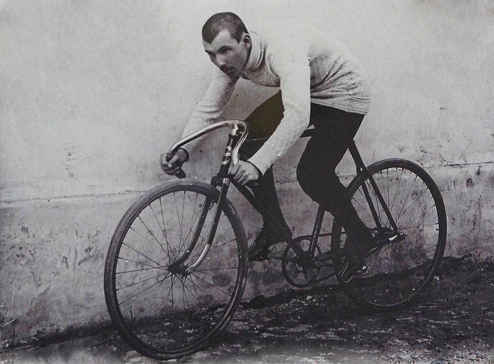 Ivan Sarić on a bicycle