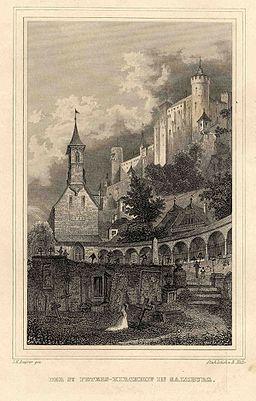 JM Bayrer Der St Peters-Kirchhof in Salzburg c1840 ubs G 1057 II