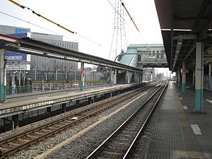 Kita-Hachiōji Station - View of the platforms, February 2009