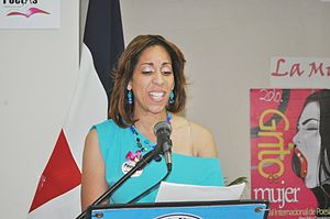 Jael Uribe - Jael Uribe reading poetry at Woman Scream 2012 in Santo Gomingo.