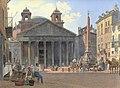 Jakob Alt - Das Pantheon und die Piazza della Rotonda in Rom - 1836.jpg