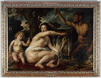 Amalthea (mythology) - Infancy of Zeus, by Jacob Jordaens, early 1630s (Louvre Museum)