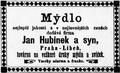 Jan Hubínek inzerát 1895.png
