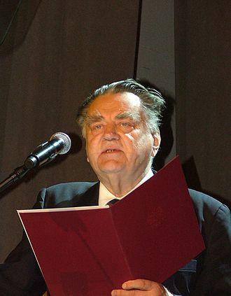 Jan Olszewski - Olszewski speaking in 2007.