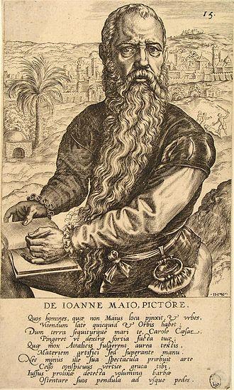 Jan Cornelisz Vermeyen - Jan Vermeyen by Jan Wierix.