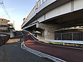 Japan National Route 202 and Fukuoka Express Circular Route near Umebayashi Station.jpg