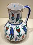 Jar with tulips, Iznik ware, Turkey, Iznik, Ottoman period, last quarter of 16th century, earthenware with underglaze polychrome painting - Cincinnati Art Museum - DSC04090.JPG
