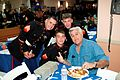 Jay Leno poses for a photo with Marines, 2010.jpg