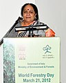 "Jayanthi Natarajan addressing at the World Forestry Day function ""Role of Forestry in Achieving Millennium Development Goals"", in New Delhi on March 21, 2012.jpg"