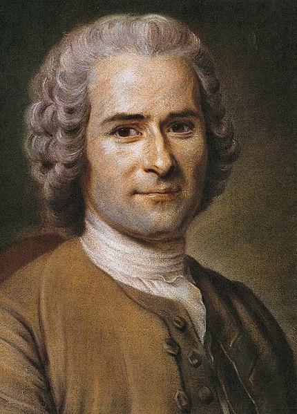 Jean-Jacques Rousseau a la edad de 41 años, pintado al pastel por Quentin La Tour.