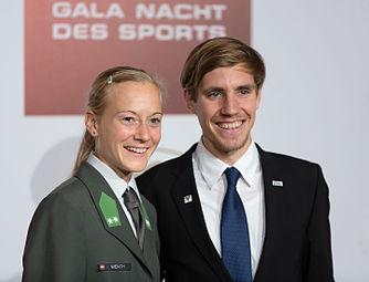 Jennifer Wenth Christoph Sander Gala Nacht des Sports Österreich 2015.jpg