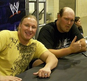 Jesse and Festus - Jesse (left) and Festus (right) at an autograph signing
