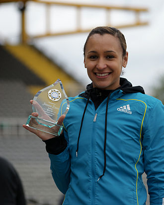 Jessica Ennis-Hill - Jessica Ennis with Double World Championship Award