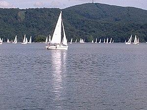 Lake Solina - Sailboats on the lake.