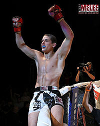 Jimy Hettes at Mohegan Sun Arena after winning MMA Melee Featherweight Championship.jpg