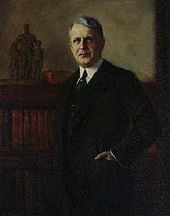 The official portrait of James J. Davis hangs in the Department of Labor