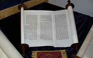 Book of Job - Scroll of the Book of Job, in Hebrew