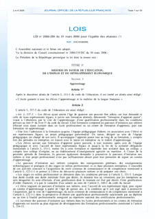 First Employment Contract 2006 controversial French law making it easier for employers to fire employees
