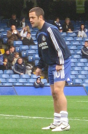 Joe Cole - Joe Cole warming up before a match in December 2007
