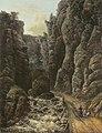 Johan Christian Claussen Dahl - Schlucht in der Sächsischen Schweiz (Neue Pinakothek, München).jpg