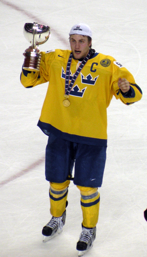 Johan Larsson (ice hockey, born 1992) - Image: Johan Larsson Trophy