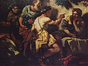 Johann Carl Loth - Jupiter and Mercury with Philemon and Baucis, 1659 (Kunsthistorisches Museum)