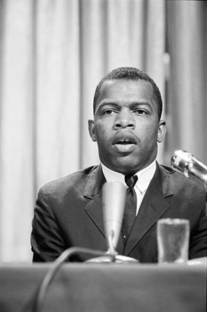 John Lewis, American civil rights activist and...