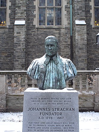 John Strachan - The bust of Strachan in the Trinity quad, Trinity College, Toronto