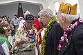 John White, a U.S. Navy Pearl Harbor survivor, speaks to Tom Brokaw.jpg