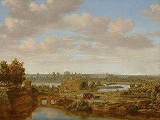Panorama near Arnhem with the Rhine Gate