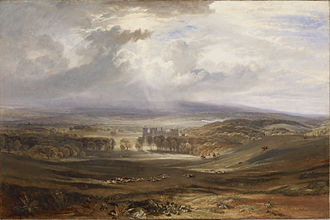 Raby Castle - Image: Joseph Mallord William Turner Raby Castle, the Seat of the Earl of Darlington Walters 3741