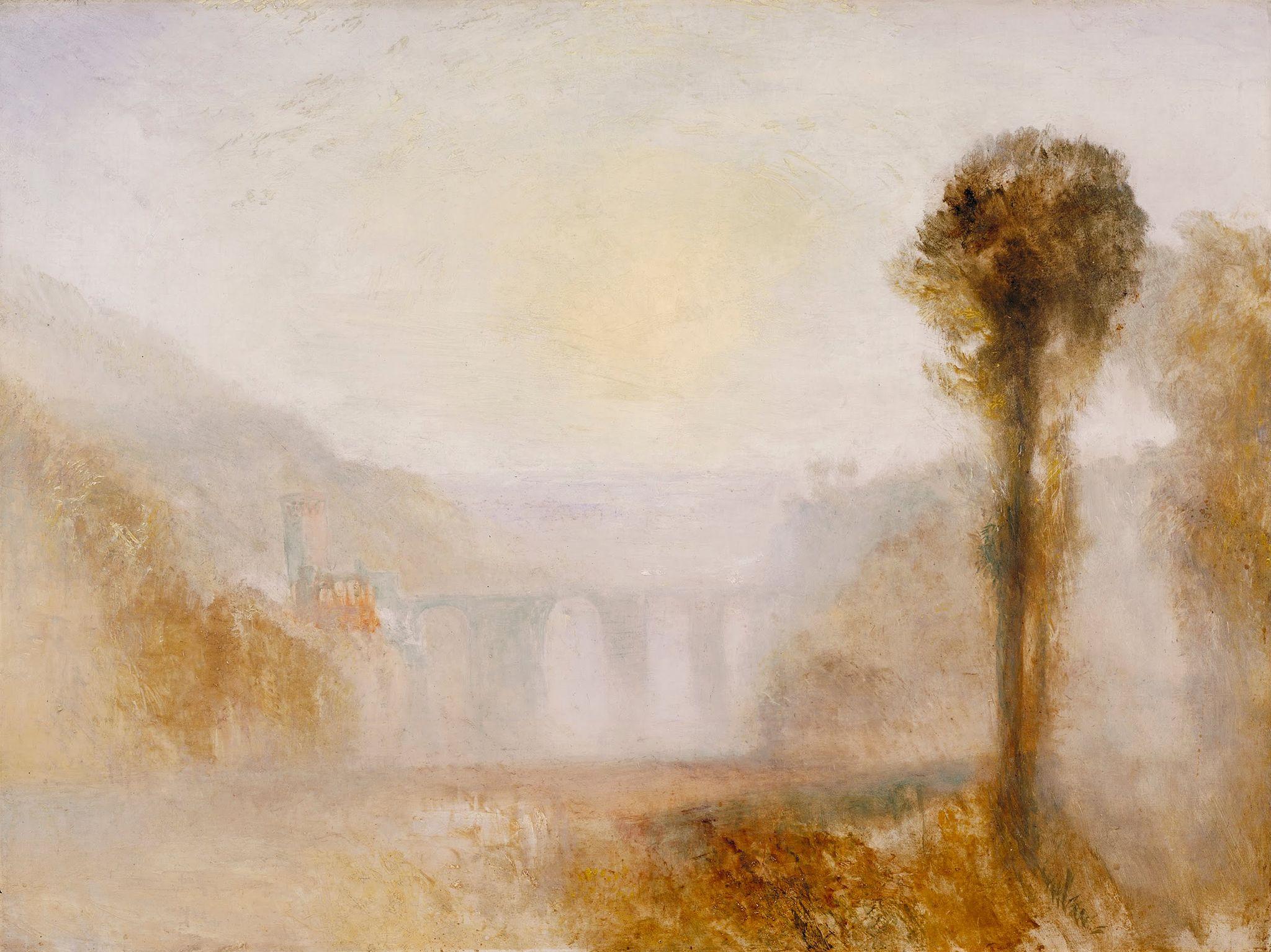 Joseph Mallord William Turner - The Ponte Delle Torri, Spoleto - Google Art Project