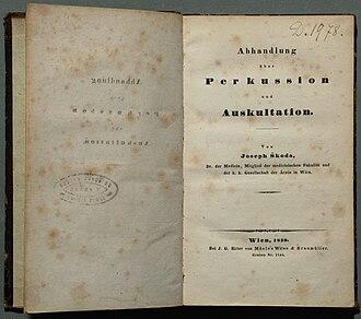 Joseph Škoda - Title of first print 1839
