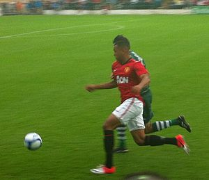 Joshua King (footballer) - King in action for Manchester United in a pre-season friendly against Cork City in July 2012