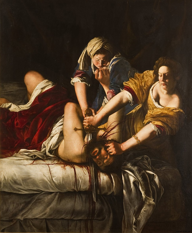 Judit decapitando a Holofernes, por Artemisia Gentileschi
