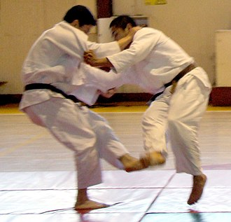 Sweep (martial arts) - Image: Judo foot sweep cropped
