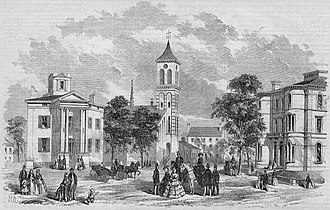 History of Portland, Maine - Free and Congress Streets in 1857