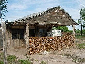 Justiceburg, Texas - Image: Justiceburg Texas Firewood