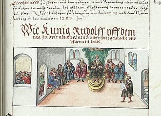 Hoftag - Image: König Rudolf Landfrieden