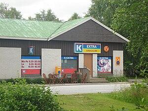 Vieki - K-Extra Sinisalmi, a local supermarket in Vieki