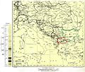 KARTA(MAPA) NA KOJA SE PRIKAZANI MAKEDONCITE KAKO POSEBEN NAROD Ethnographical Map of Central and South Eastern Europe - The War Office 1916, London.jpg