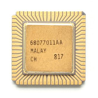 Chip carrier - Image: KL Intel 80286 CLCC