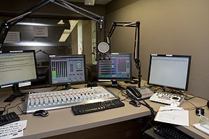 KNHC - KNHC's On-Air Studio A after the 2009 rebuild