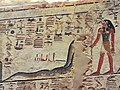 KV17, the tomb of Pharaoh Seti I of the Nineteenth Dynasty, Corridor D decorated with the fourth hour of the Amduat, Valley of the Kings, Egypt (49846646897).jpg