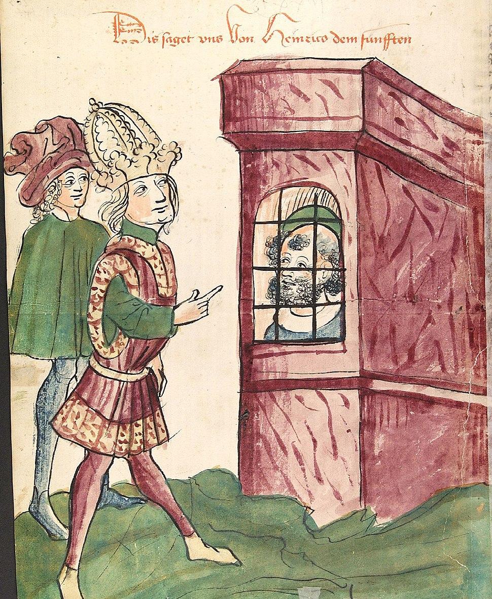 Kaiser Heinrich V. besucht seinen Vater im Gefängnis