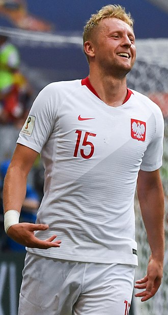 Kamil Glik, playing as centre back for Poland Kamil Glik 2018.jpg