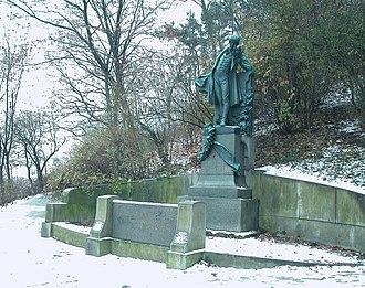 Karel Hynek Mácha - Statue of Karel Hynek Mácha in Petřín Park, Prague